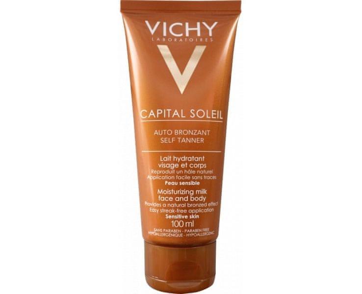 Vichy Hydratační samoopalovací mléko na obličej a tělo Auto bronzant Capital Soleil 100 ml