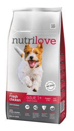 Nutrilove Adult Kutyatáp - 8kg + 1,6kg ajándék