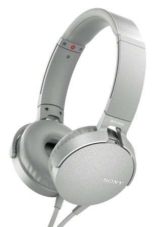 Sony slušalke MDR-XB550APB, bela