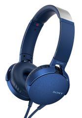 Sony slušalke MDR-XB550APB, modre