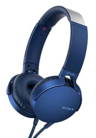 Sony slušalke MDR-XB550APB, modra