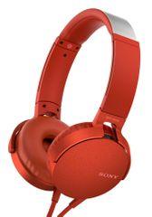 Sony slušalke MDR-XB550APB, rdeče