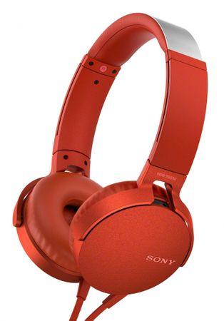Sony slušalke MDR-XB550APB, rdeča