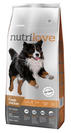 Nutrilove sucha karma dla psa Adult Large z kurczakiem 12kg