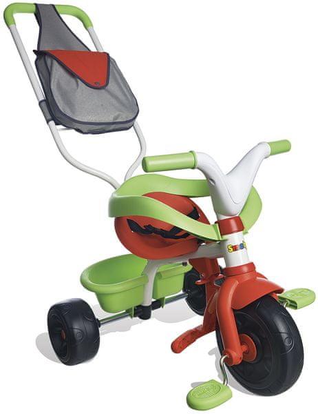 Smoby Tříkolka Be Fun Confort červeno-zelená