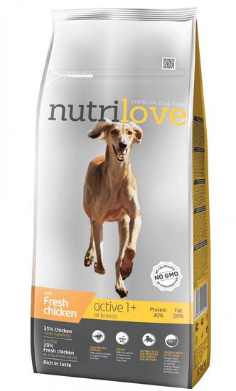 Nutrilove hrana za pse Active, piščanec 12kg