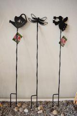 Previosa Acél virágtámasz 72 cm, 3 drb (tündér, szitakötő, kancsó)