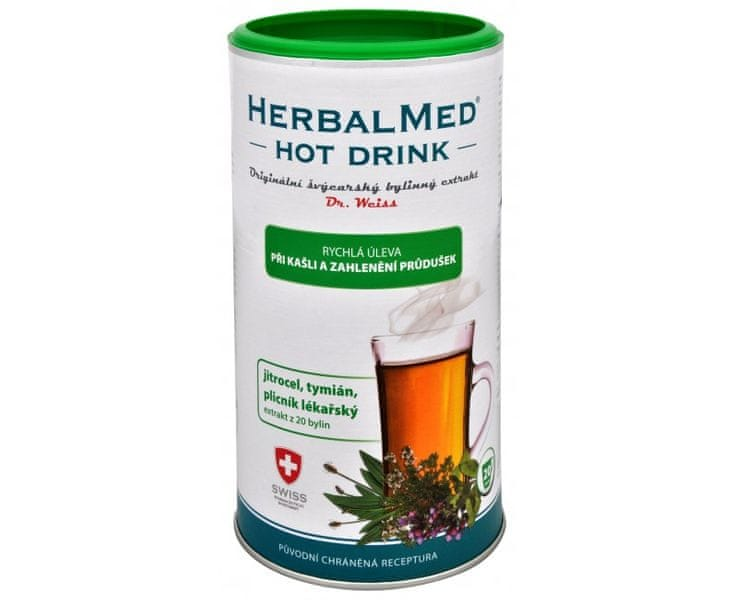 Simply you HerbalMed Hot Drink Dr. Weiss - kašel, průdušky 180 g