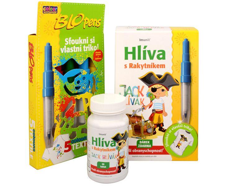 Simply you Imunit Hlíva ústřičná pro děti s rakytníkem Jack Hlívák 60 tbl. + Foukací fixy ZDARMA