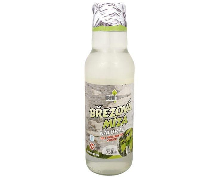 Oskola Březová míza natural bez přidaného cukru 750 ml