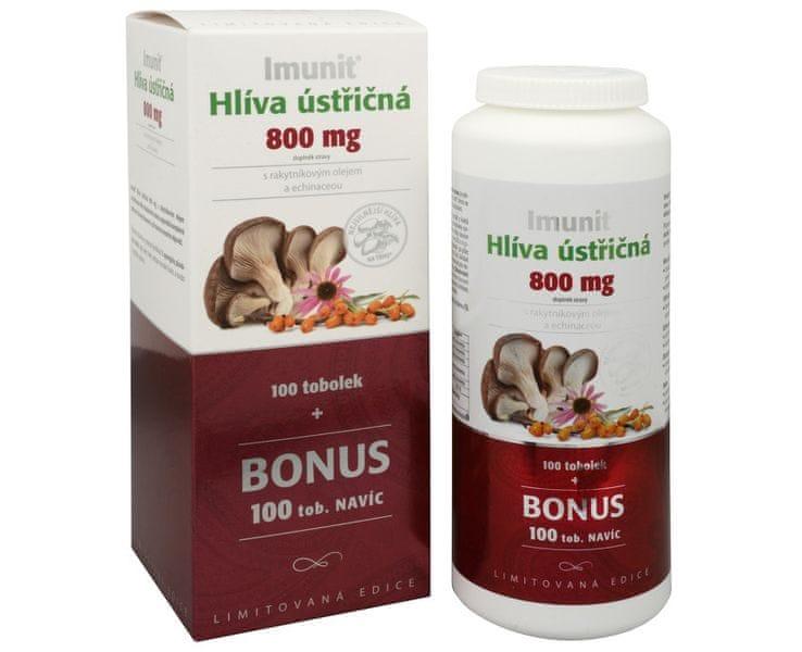 Simply you Imunit Hlíva ústřičná 800 mg s rakytníkovým olejem a Echinaceou 100 tob. + 100 tob. ZDARMA