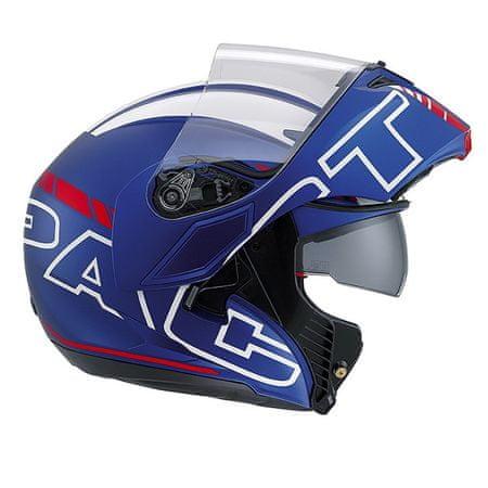 AGV vyklápací moto prilba Seattle, modrá matná/biela/červená