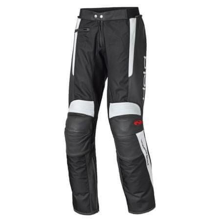 Held pánske moto nohavice  Takano vel.50 čierna/biela, koža/textil