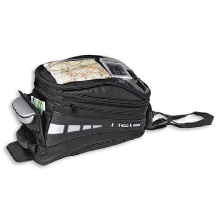 Held motocyklový Tankbag  TURANO - objem 12-20l, čierny, Magnetický systém