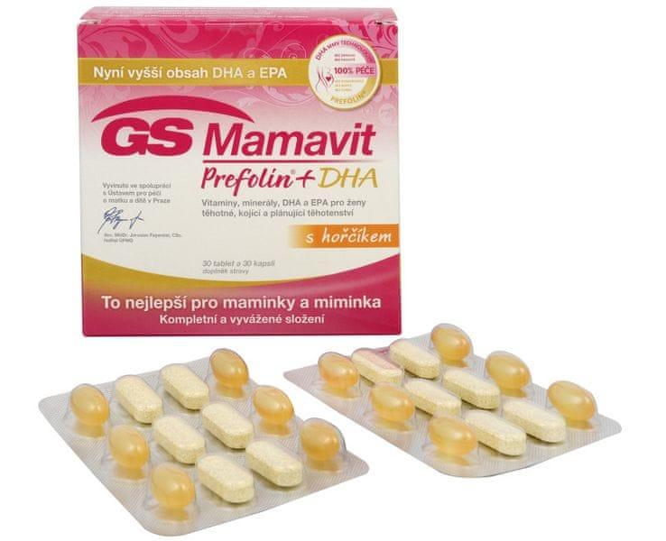 GreenSwan GS Mamavit Prefolin + DHA 30 tbl. + 30 kapslí
