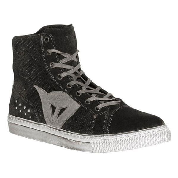 Dainese kotníkové boty STREET BIKER AIR vel.42 černá/antracit, kůže (pár)