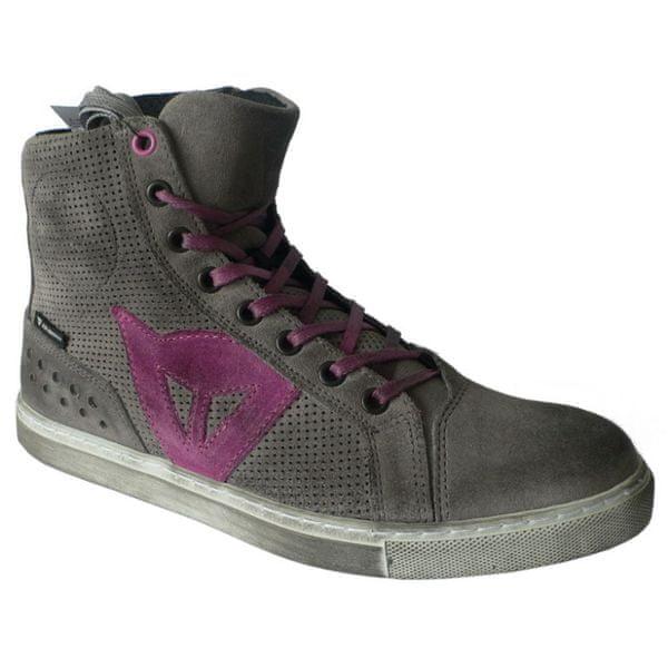 Dainese kotníkové dámské boty STREET BIKER LADY AIR vel.36 šedá/růžová, kůže (pár)
