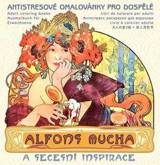 Alfons Mucha - Antistresové omalovánky pro dospělé