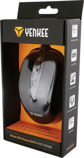 Yenkee YMS 1025BK Myš USB Quito černá