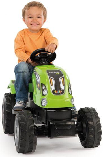 Smoby traktor na pedale Farmer XL s prikolicom