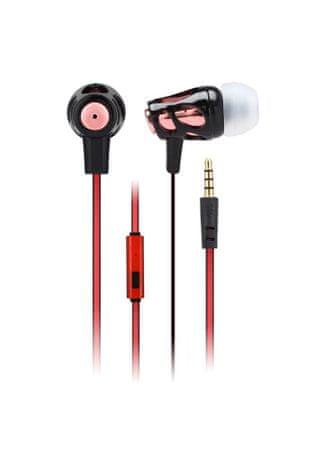 Astrum EB240 Univerzális sztereó headset, 3,5mm jack, Piros/Fekete