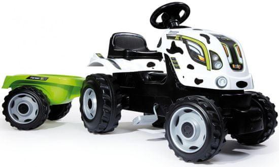Smoby Pedálos traktor Cow Farmer Xl utánfutóval