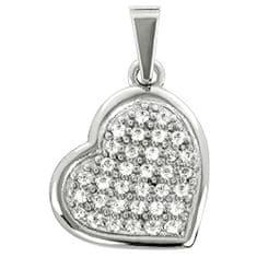 Brilio Přívěsek z bílého zlata Srdce s krystaly 249 001 00475 07 - 1,00 g zlato bílé 585/1000