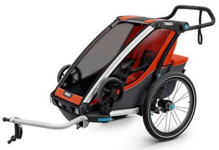 Thule športni voziček Chariot Cross1, oranžen