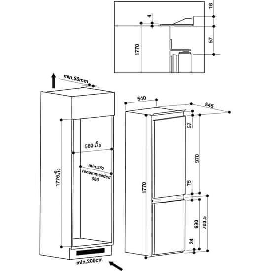 Whirlpool vestavná lednička ART 66102