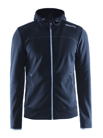 Craft moška jopa Leisure Full Zip Hood, M, temno modra