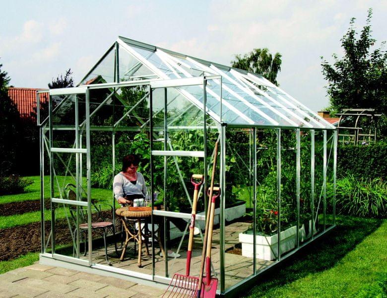 VITAVIA skleník VITAVIA URANUS 9900 čiré sklo 3 mm stříbrný