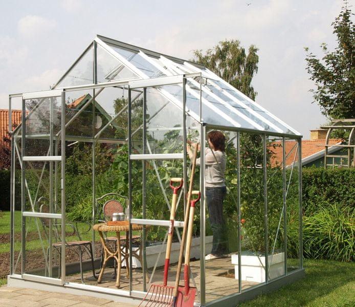VITAVIA skleník VITAVIA URANUS 6700 čiré sklo 3 mm stříbrný
