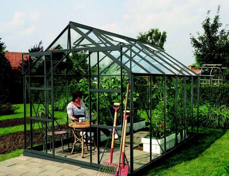 VITAVIA skleník VITAVIA URANUS 9900 čiré sklo 3 mm zelený