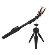 Astrum SS160 Univerzális tripod selfie bot, 120 cm, Fekete