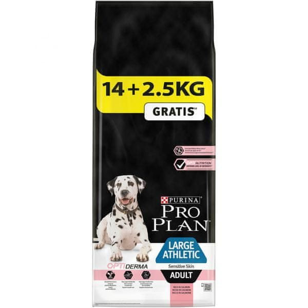 Purina Pro Plan Large Adult Athletic Sensitive Skin s lososem 14 + 2,5kg