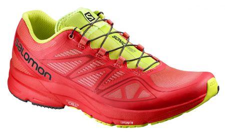 Salomon tekaški copati Sonic Pro, rdeči/zeleni, 42
