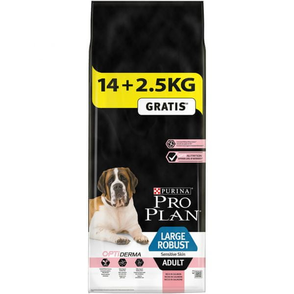 Purina Pro Plan Large Adult Robust Sensitive Skin s lososem 14 + 2,5kg