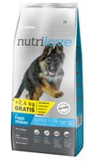 Nutrilove sucha karma dla psa Dog Junior Large Fresh Chicken 12kg + 2,4 kg gratis