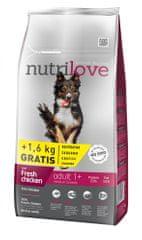 Nutrilove Adult Medium Kutyatáp - 8kg+ 1,6kg ajándék