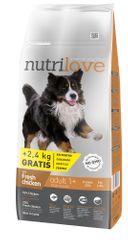 Nutrilove Adult Large Kutyatáp - 12kg+2,4kg ajándék