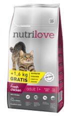 Nutrilove Adult macskatáp - 8kg+1,6kg ajándék
