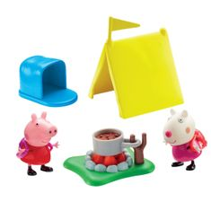 TM Toys Peppa Pig - kempingová sada + 2 figurky