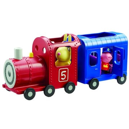 TM Toys Peppa- Pociąg z Wagonikiem + Figurki