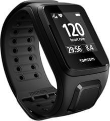 "TomTom Spark Cardio Music, Fitnes GPS óra, Fekete, ""L"" + Bluetooth headset"