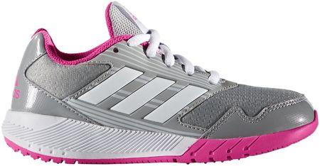 Adidas tekaški copati Altarun K, sivi/roza, 32