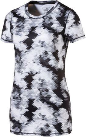 Puma ženska majica Essential Tee Graphic, belo/črna, M