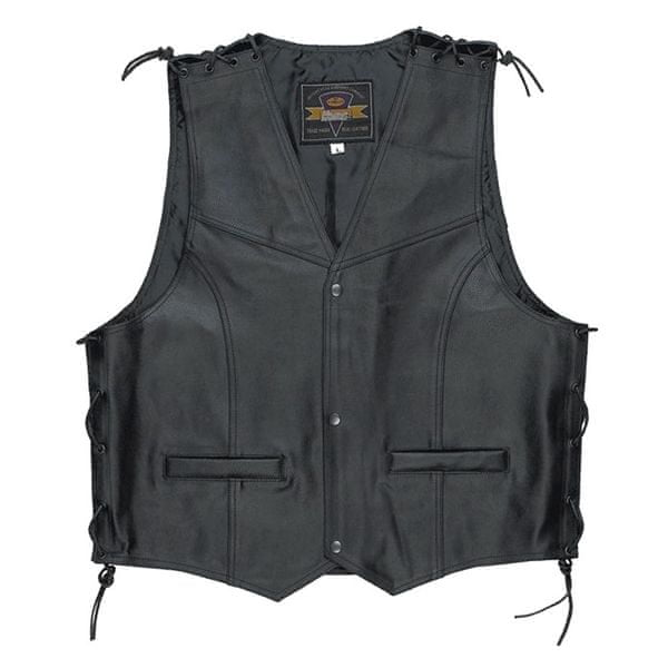 Held pánská vesta PATCH vel.XXXL černá kůže