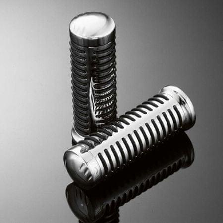 Highway-Hawk gripy 22mm  CLASSIC, chróm/čierna (2ks)