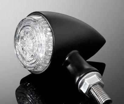 Highway-Hawk kombinované moto blinkry ALL IN ONE s LED, E-mark, černá (2ks)