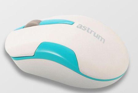 Astrum Aero 2.4G vezeték nélküli egér, Fehér/Világoskék